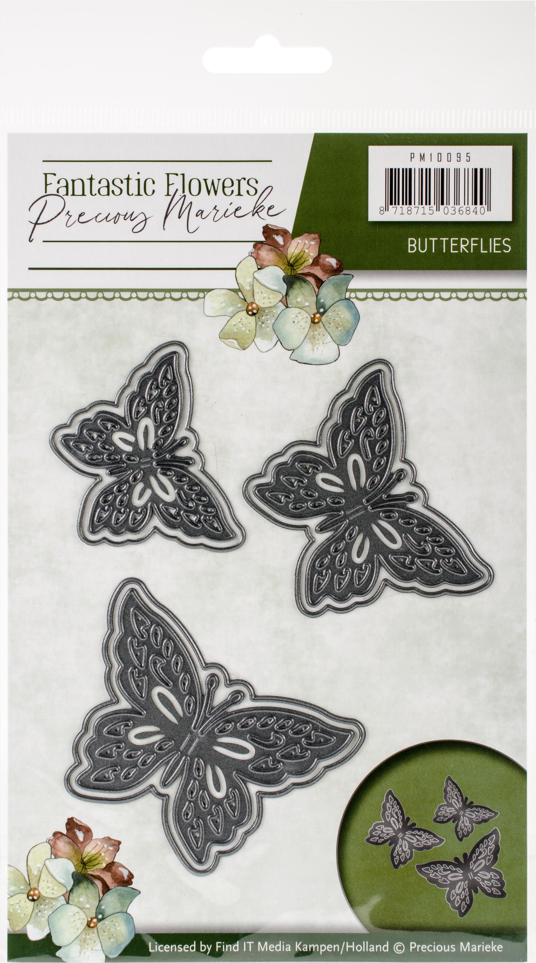 Find It Trading Precious Marieke Die-Butterflies, Fantastic Flowers