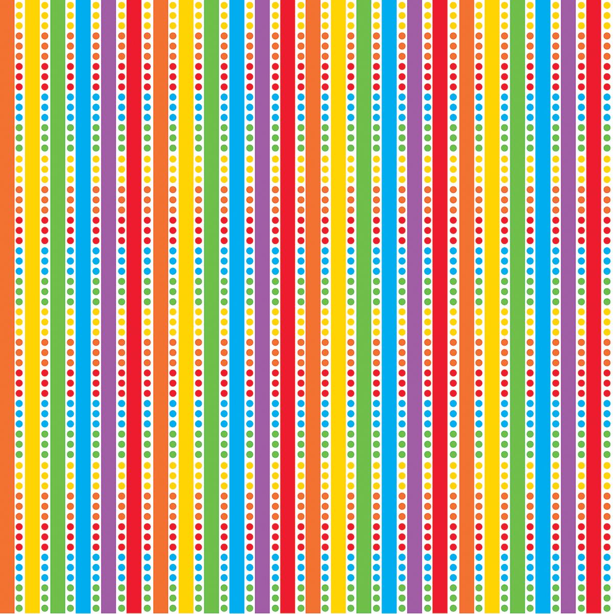 Printed Gift Wrap 5'X30 Roll-Birthday Rainbow
