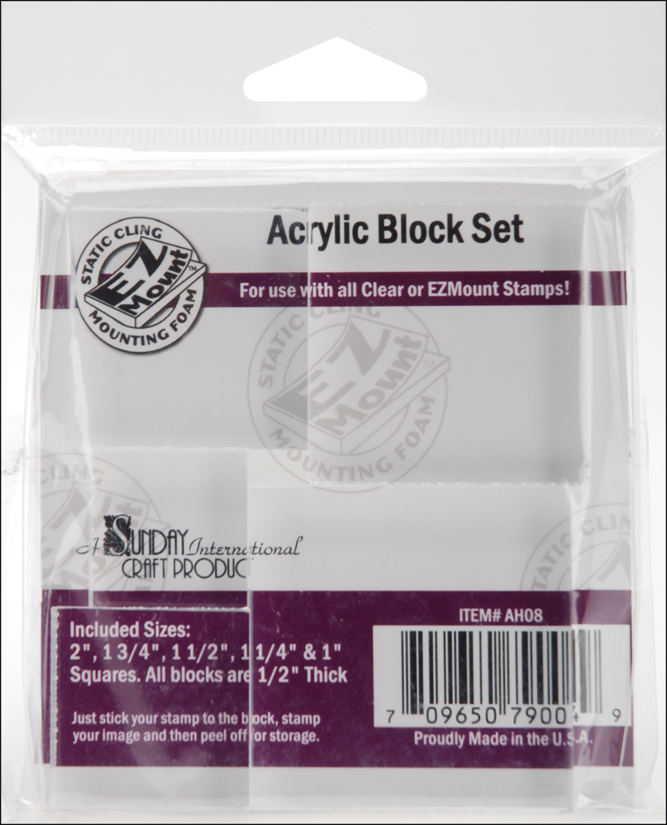 Acrylic Block Set 5/Pkg-