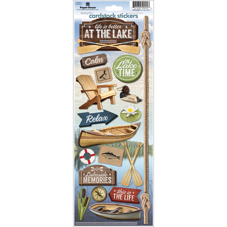 Paper House Cardstock Stickers 4.625X13 -At The Lake