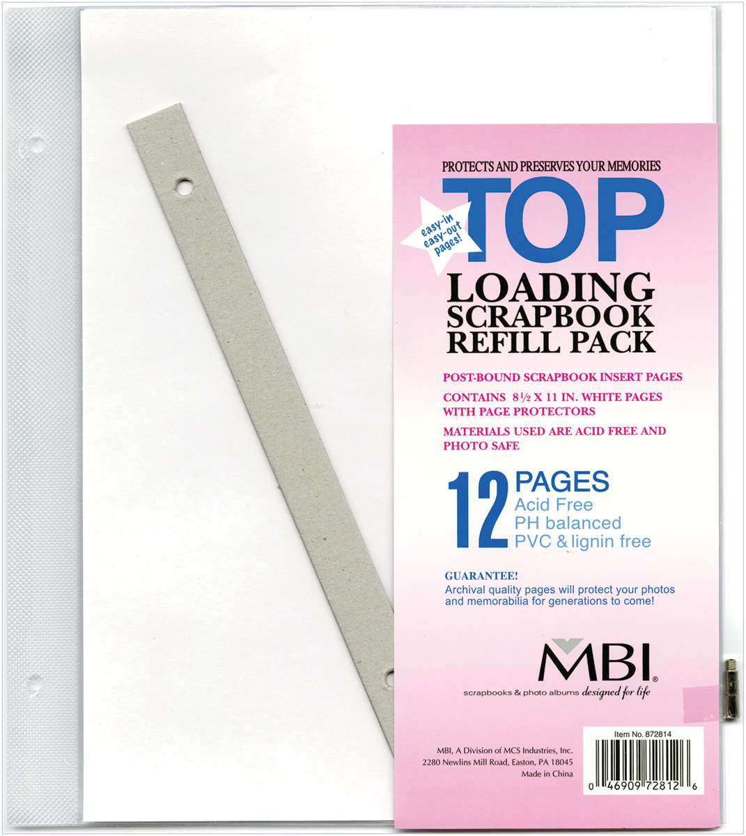 TOP LOADNG-REFILL POSTBND MBI