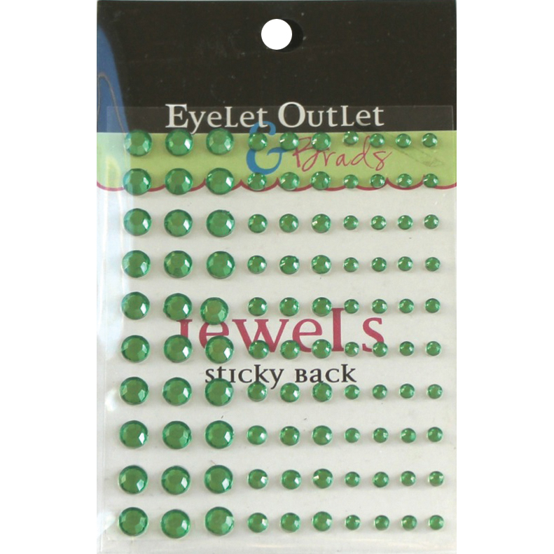 Eyelet Outlet Adhesive Jewels Multi-Size 100/Pkg-Red