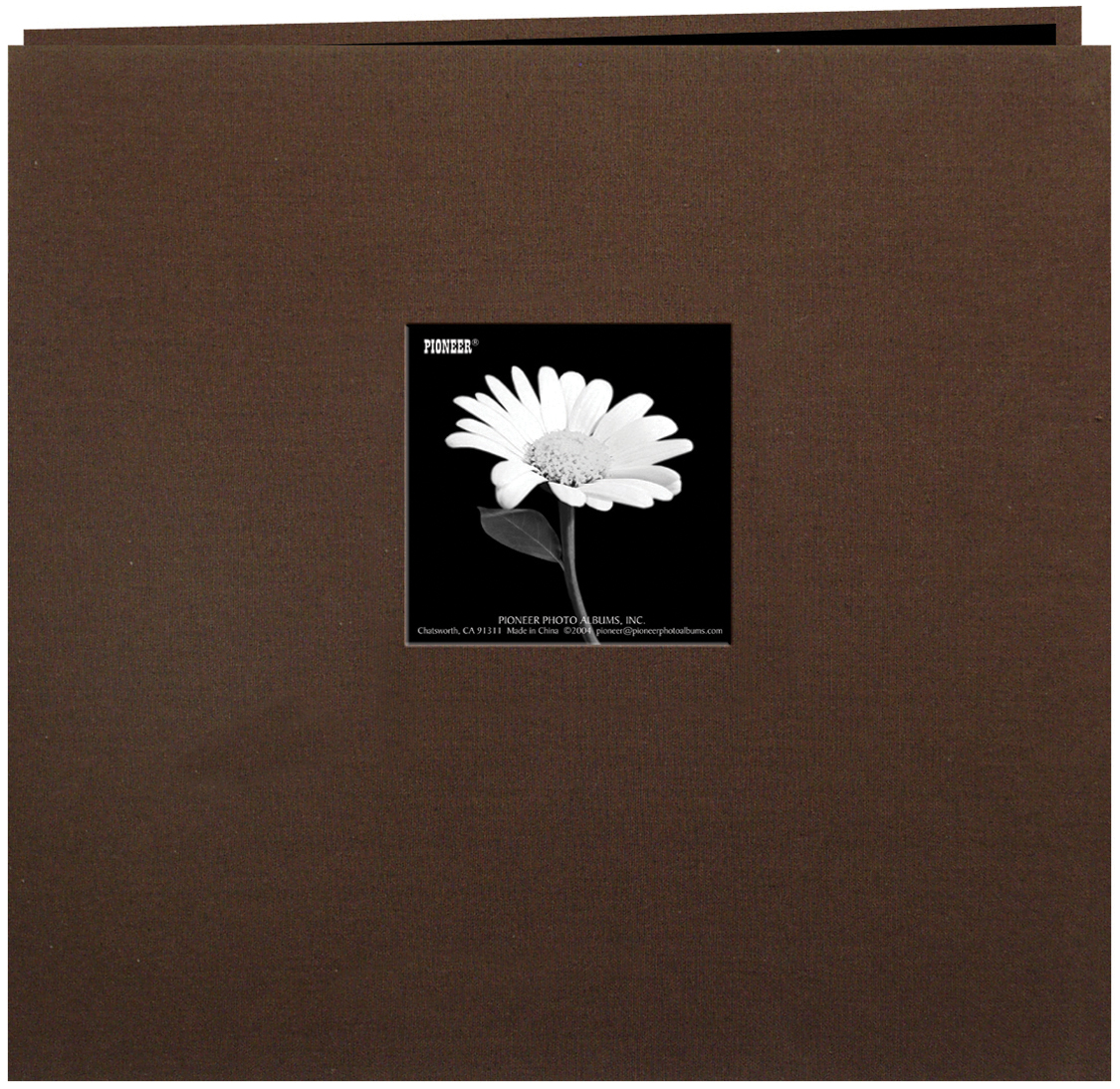 Pioneer Book Cloth Cover Post Bound Album 12X12-Brown
