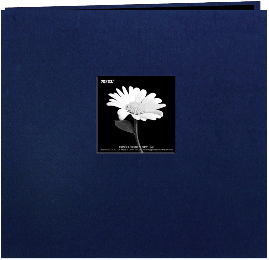 Pioneer Book Cloth Cover Post Bound Album 8X8-Regal Navy