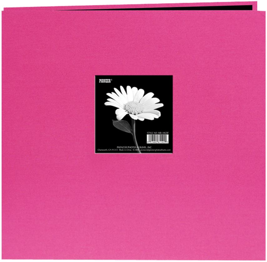 Pioneer Book Cloth Cover Post Bound Album 8X8-Bright Pink