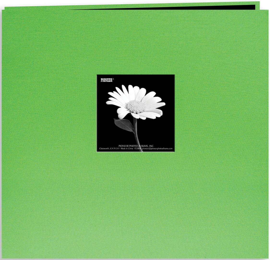 Pioneer Book Cloth Cover Post Bound Album 8X8-Citrus Green