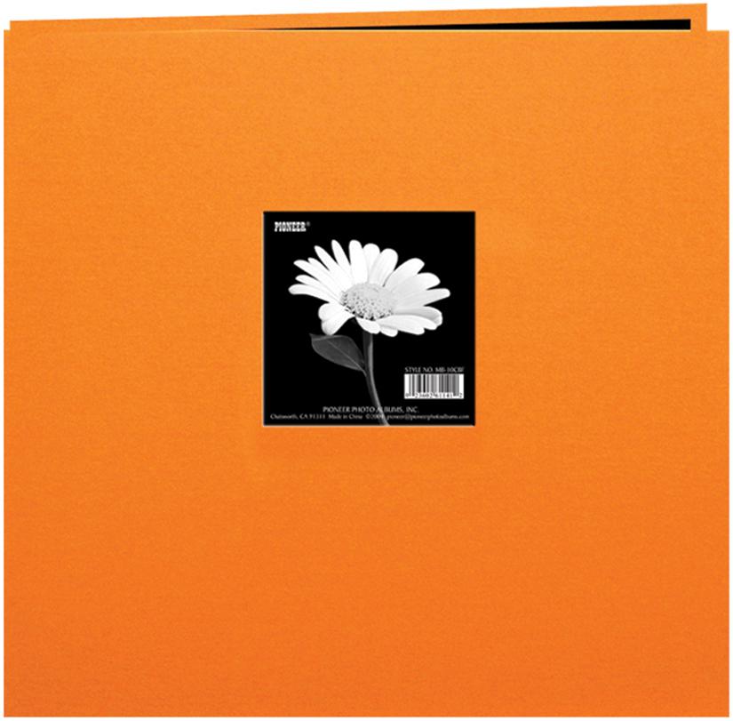 Pioneer Book Cloth Cover Post Bound Album 8X8-Orange