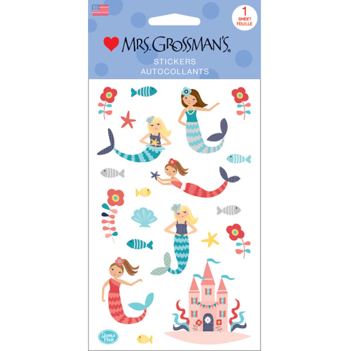 Mrs. Grossman's Stickers-Merry Mermaids