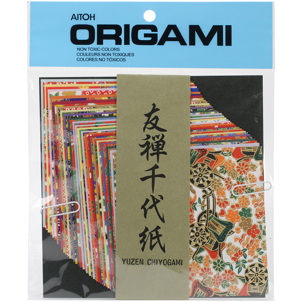 Origami Paper 4X4 40/Pkg-Yuzen Washi Chiyogami
