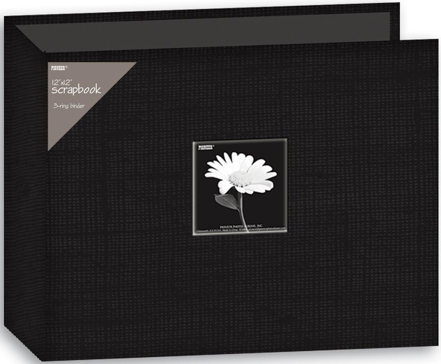 Pioneer 3-Ring Fabric Album 12X12-Black