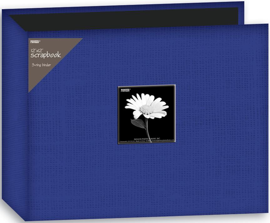 Pioneer 3-Ring Fabric Album 12X12-Blue