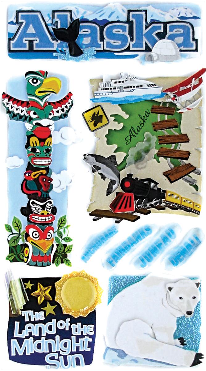 Jolee's Le Grande Dimensional Stickers-Alaska