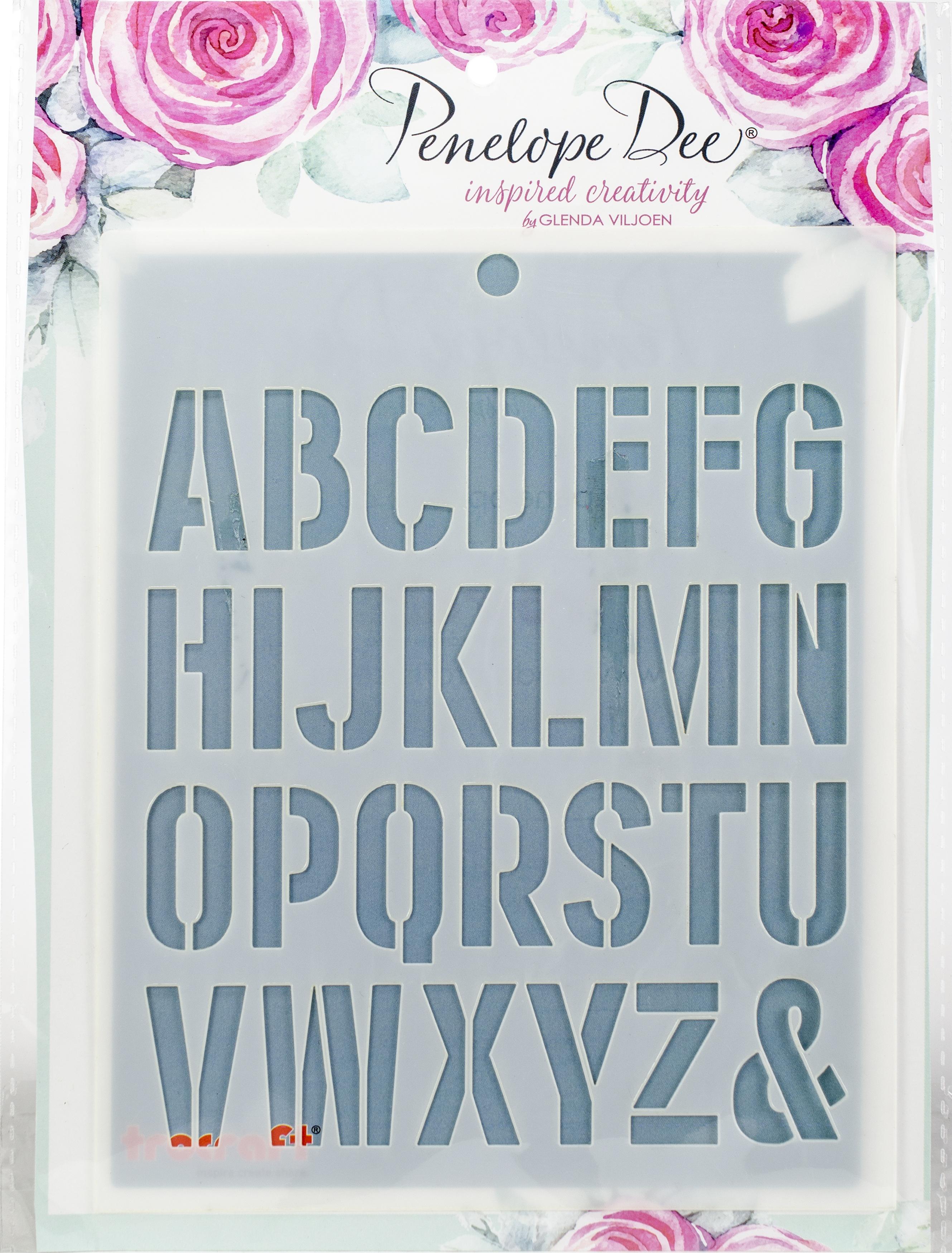 Maestro Stencil-Alphabet
