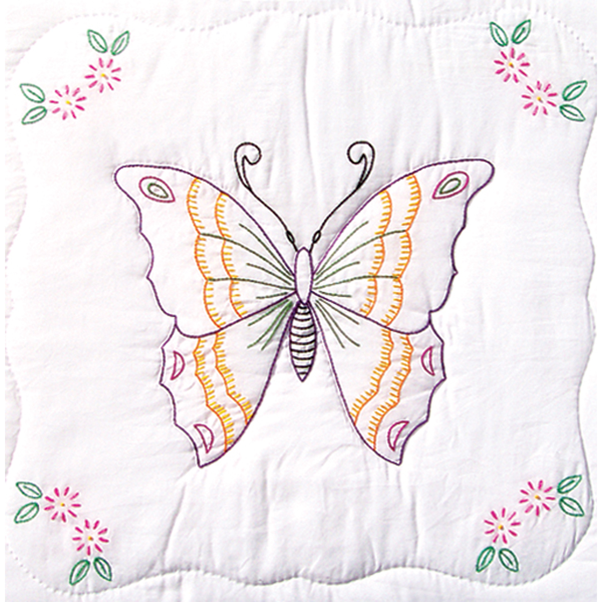 Stamped Embroidery Blocks - 18in - Butterfly