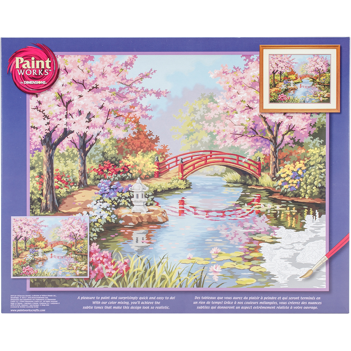 Paint Works Paint By Number Kit 20X16-Japanese Garden