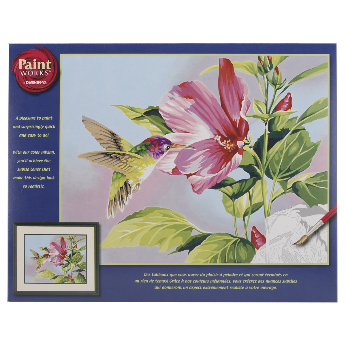 Paint Works Paint By Number Kit 14X11-Hibiscus Hummingbird
