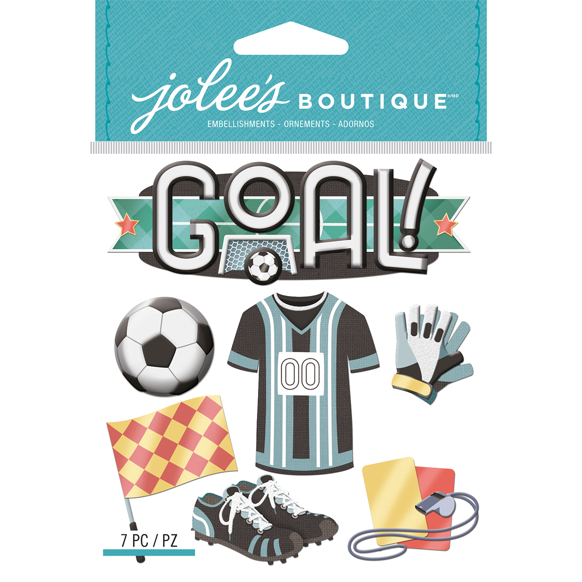Jolee's Boutique Dimensional Stickers-Soccer