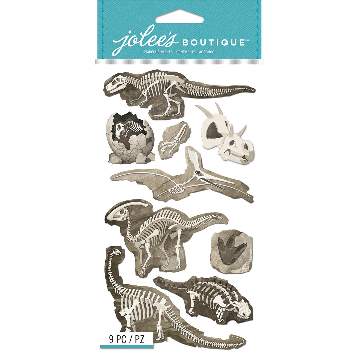 Jolee's Le Grande Dimensional Stickers-Dinosaur Skeletons Bones