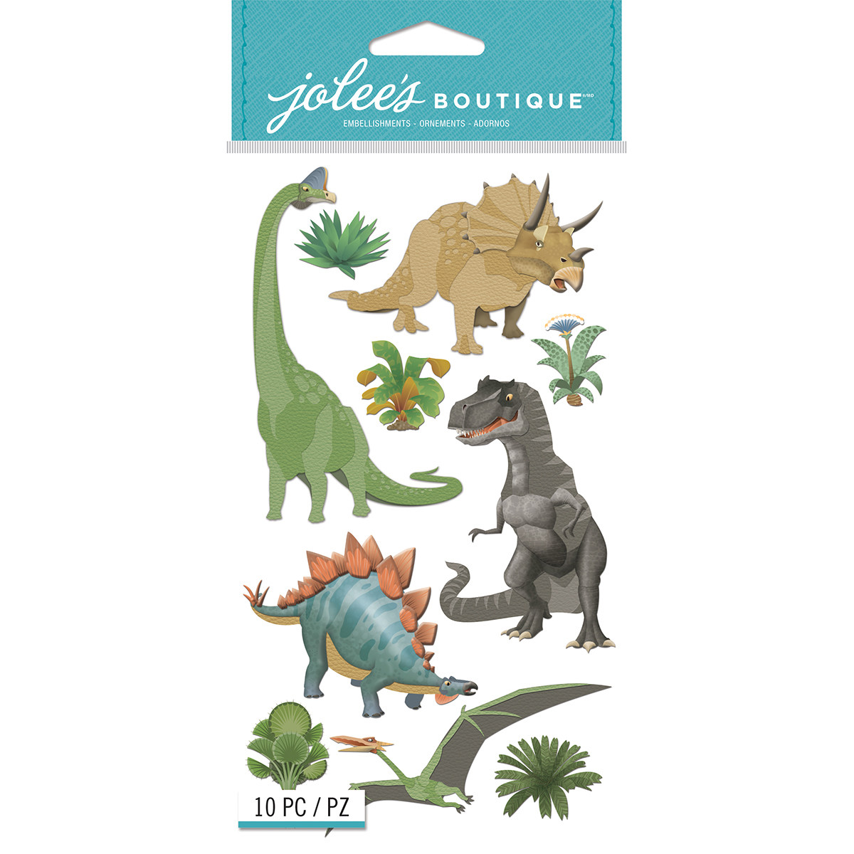 Jolee's Le Grande Dimensional Stickers-Dinosaurs