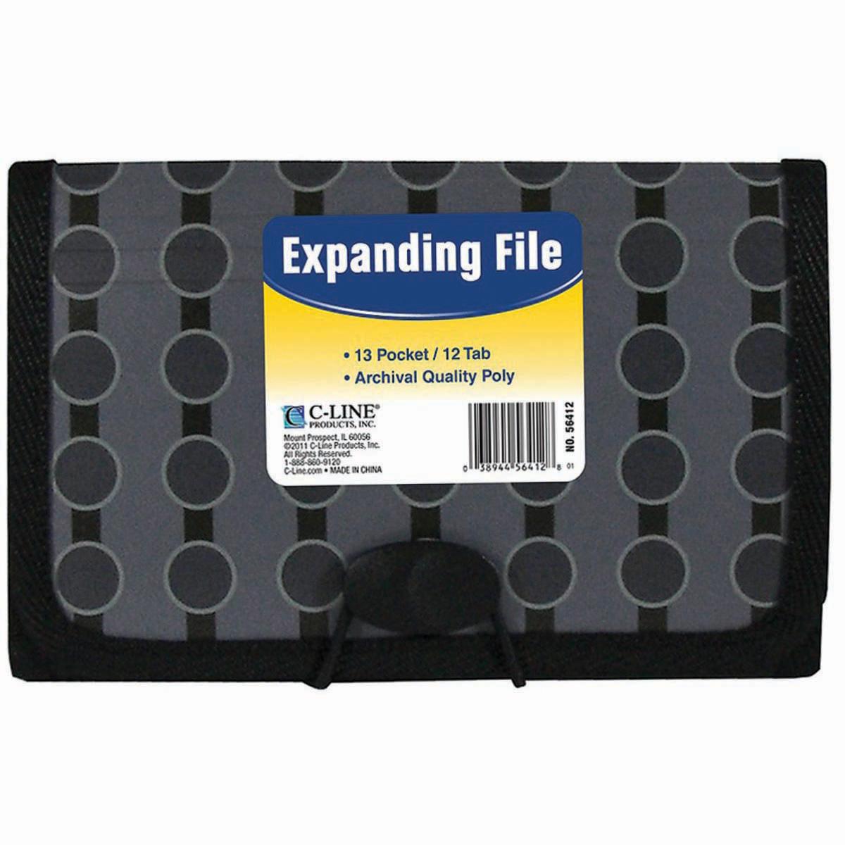 13-Pocket Coupon Expanding File-Circles