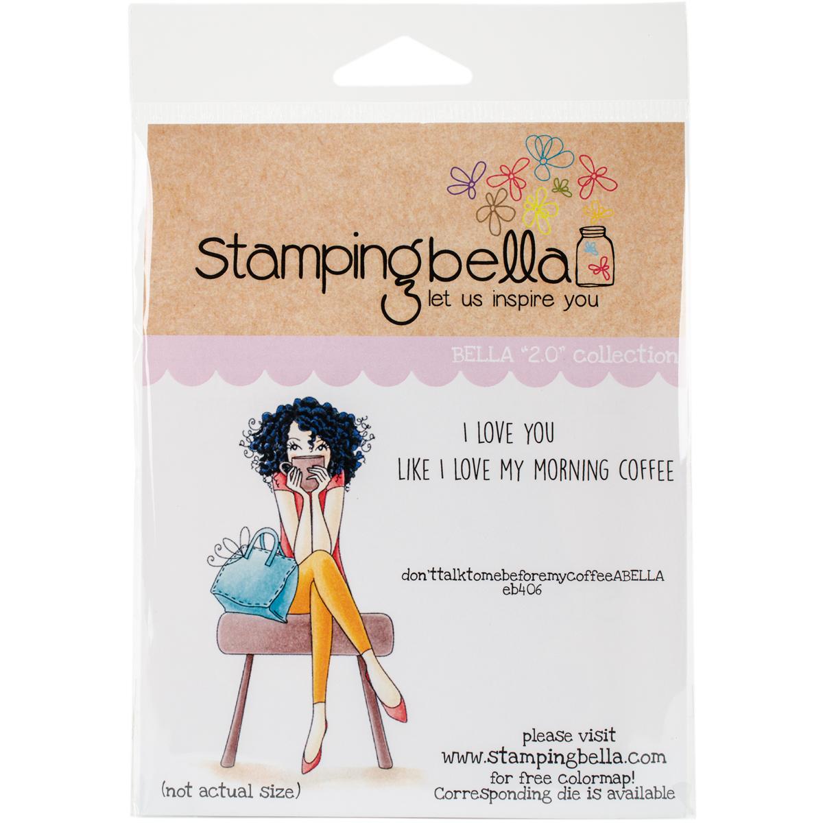 ^Stamping Bella Rubber Stamp Set don'ttalktomebeforemycoffeeabella (eb406)