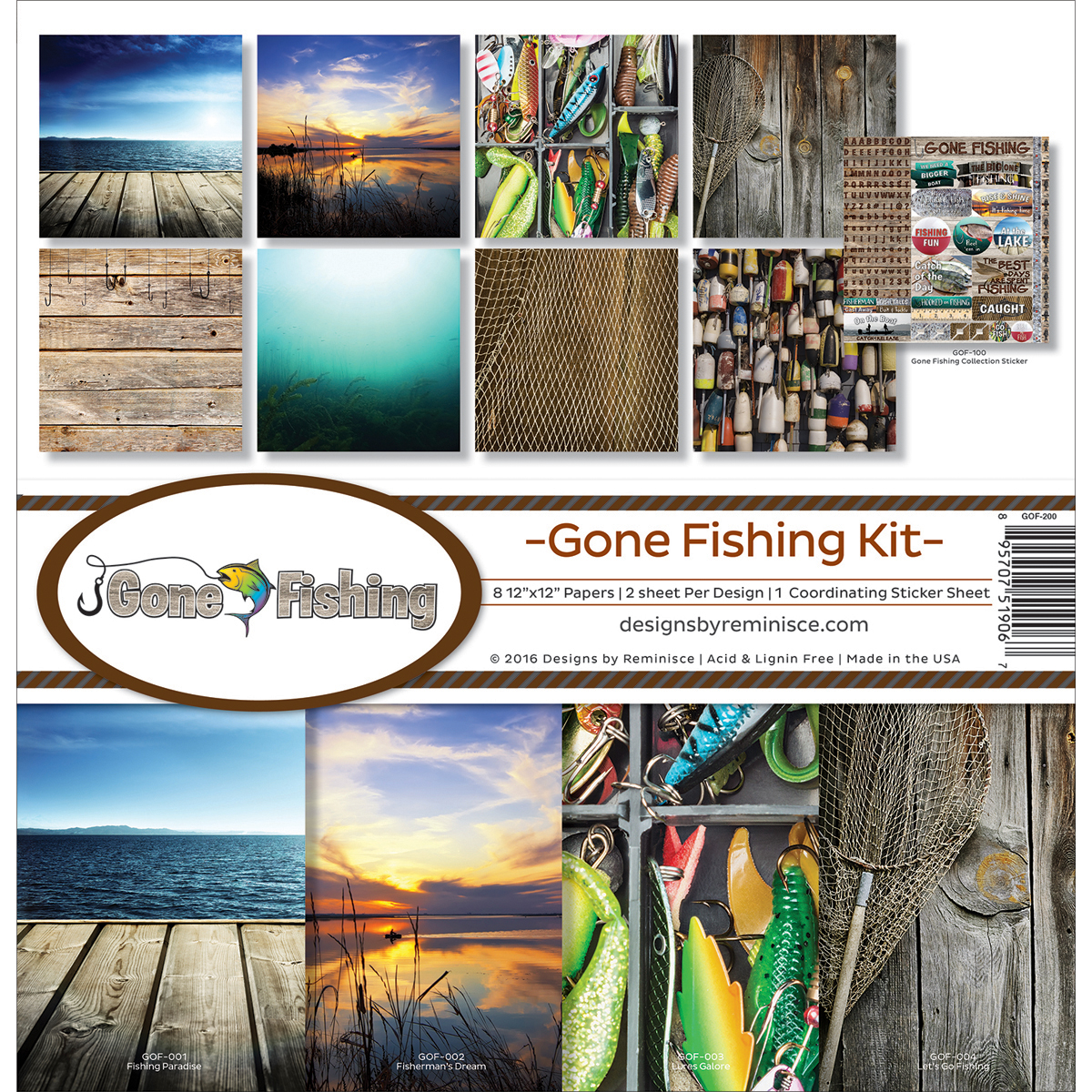 Gone Fishing - Reminisce Collection Kit 12X12