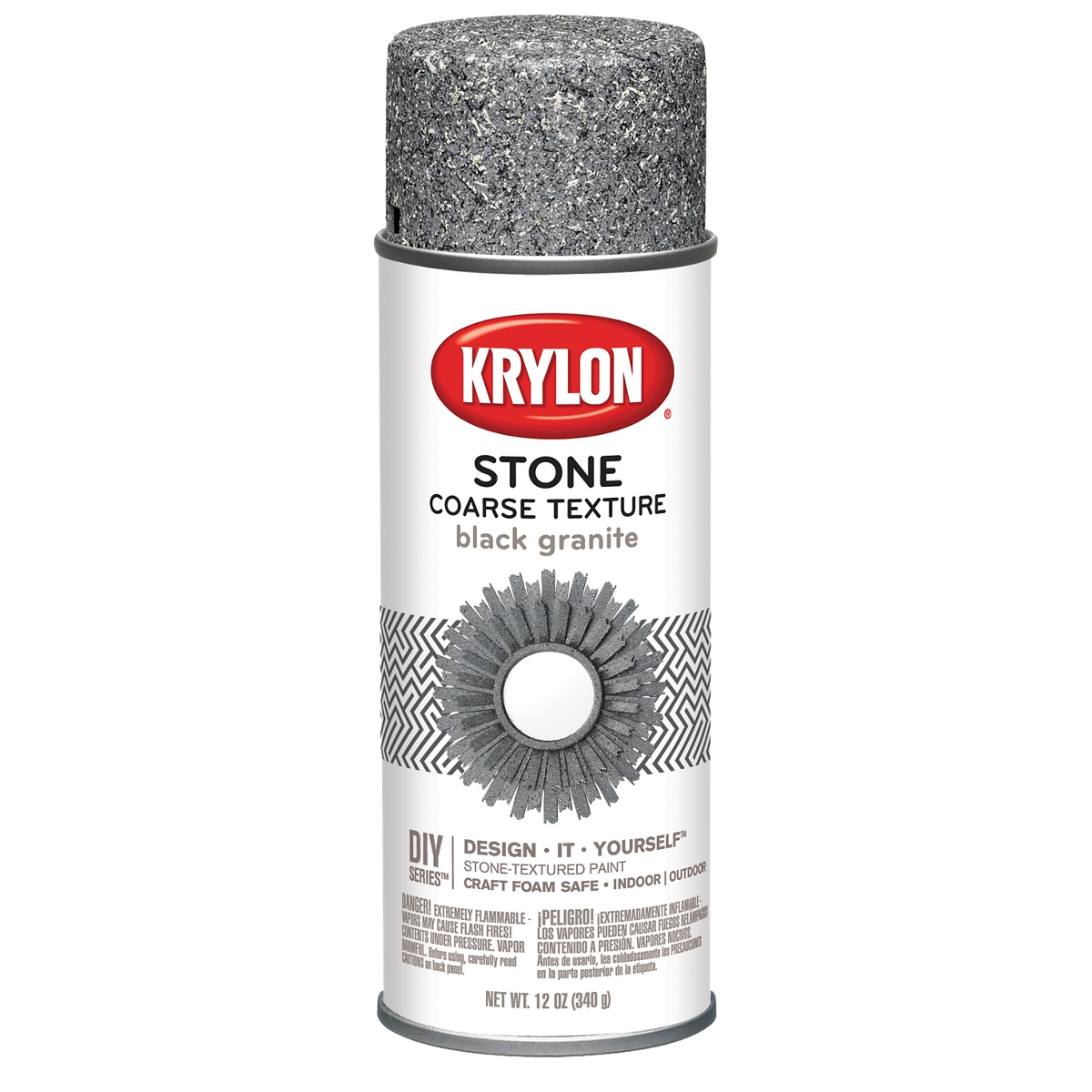 Coarse Stone Aerosol Spray 12oz-Black Granite