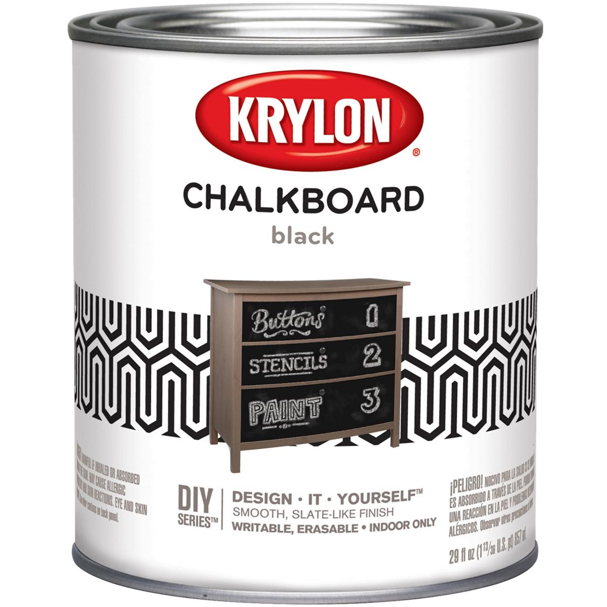 Chalkboard Paint Quart-Black FOB: MI