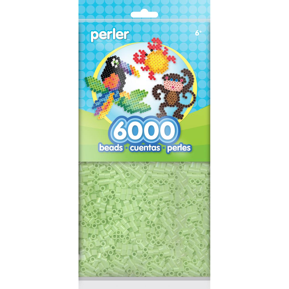 Perler Beads 6,000/Pkg-Glow In The Dark