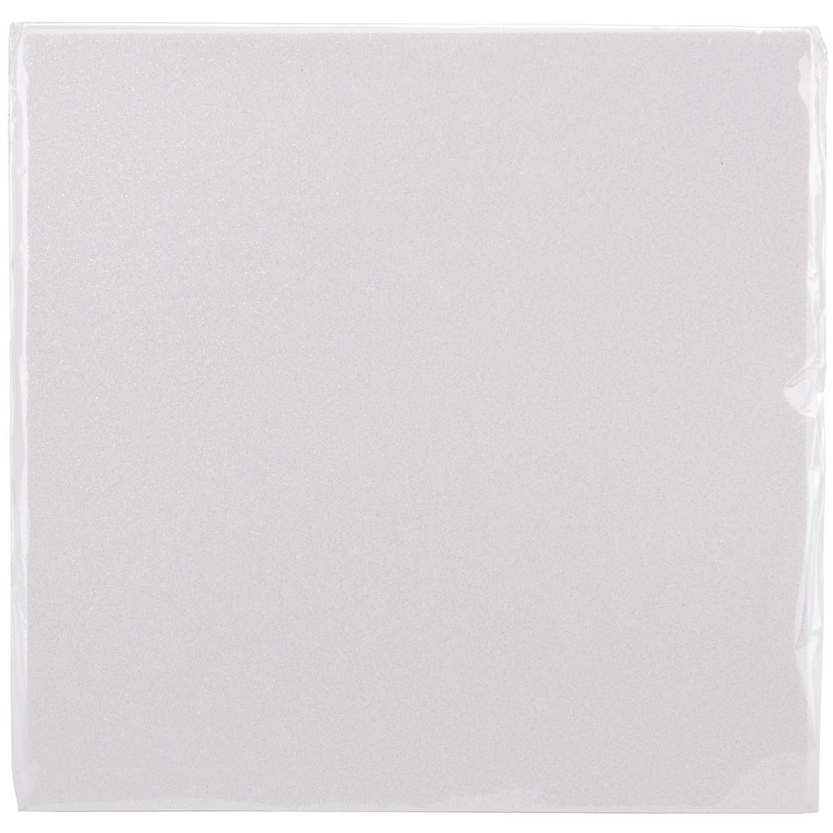 Best Creation Glitter Cardstock 12X12-White