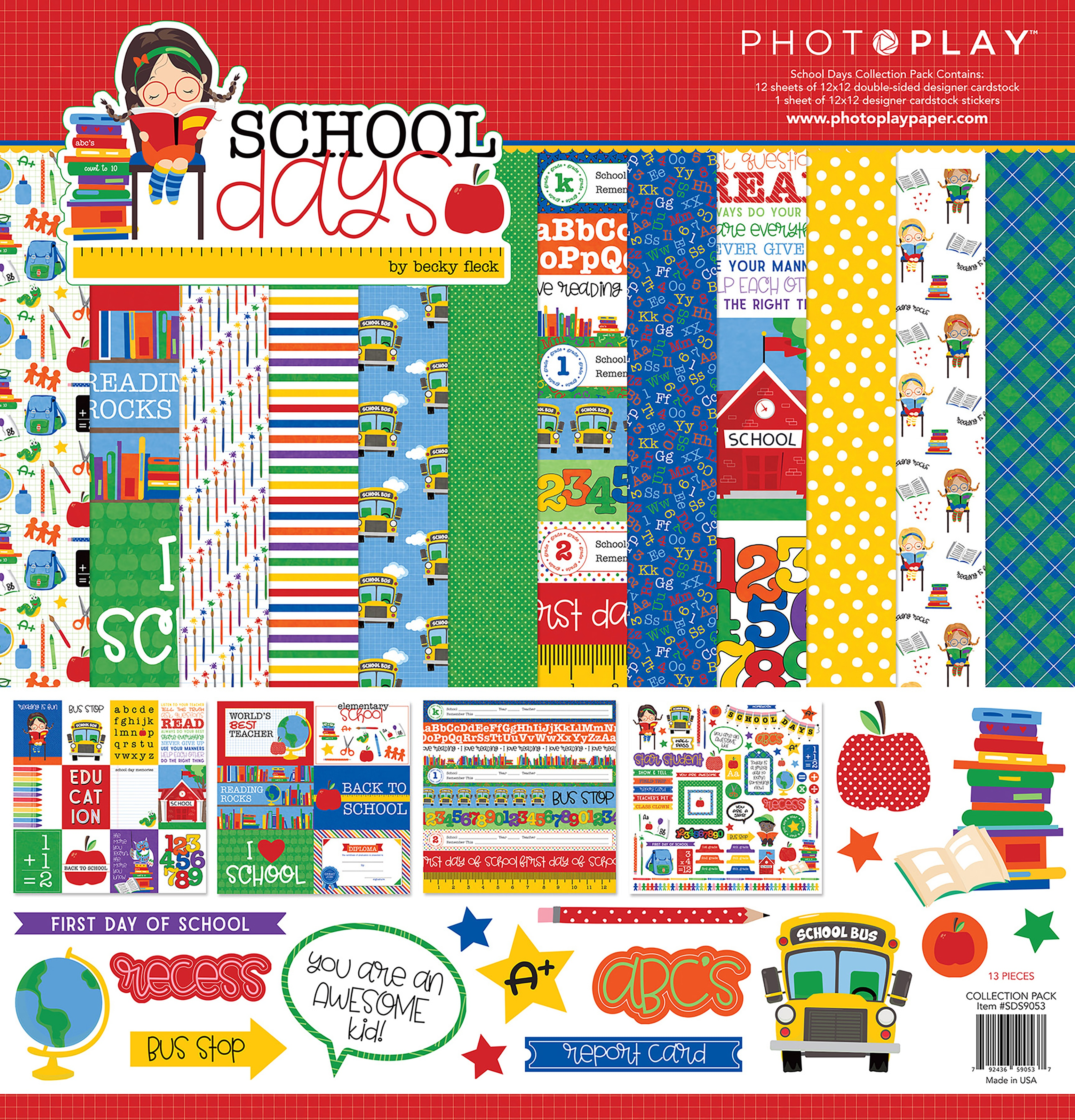 PhotoPlay Collection Pack 12X12-School Days
