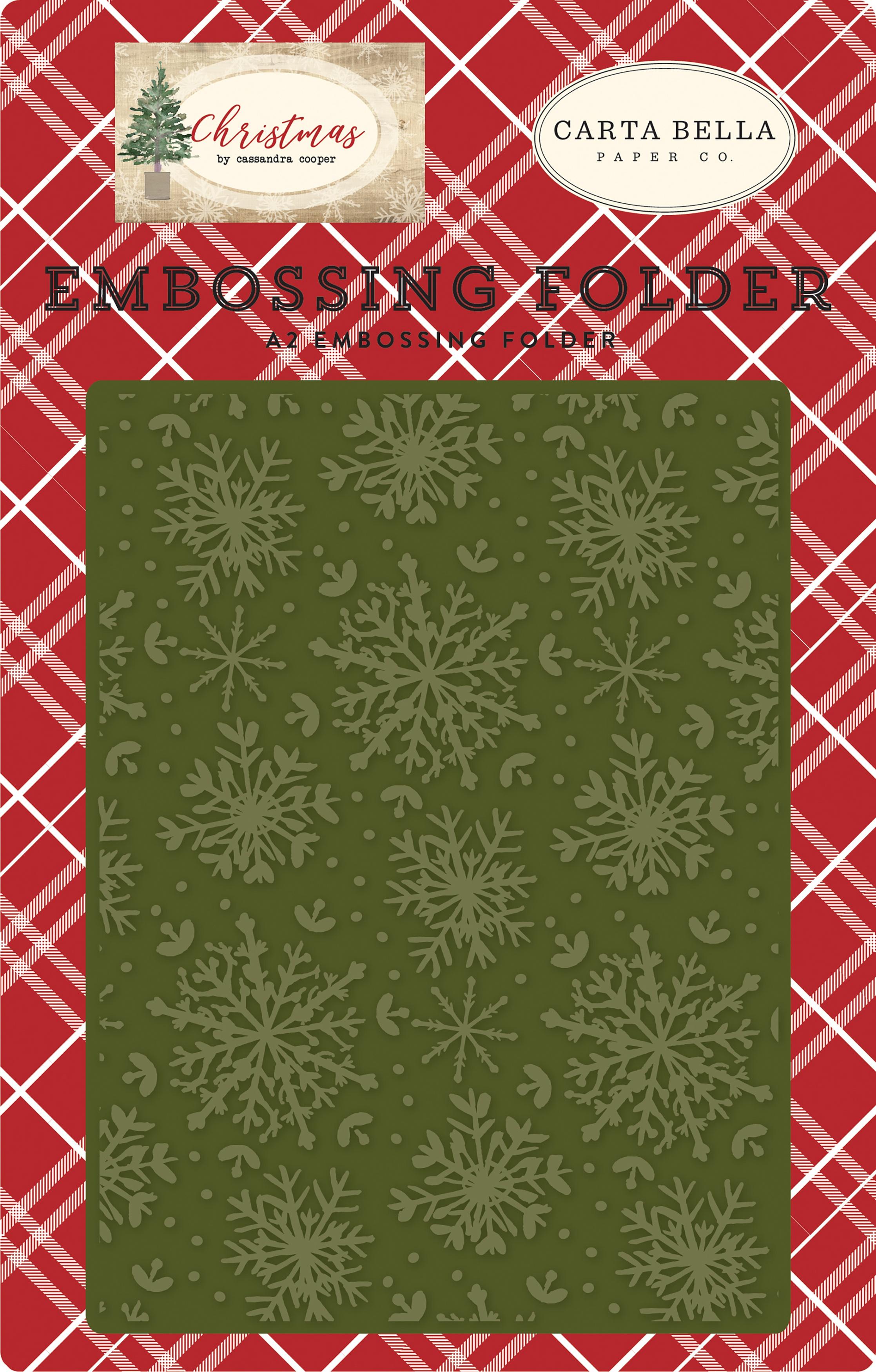 Carta Bella Embossing Folder A2-Jolly Snowflakes