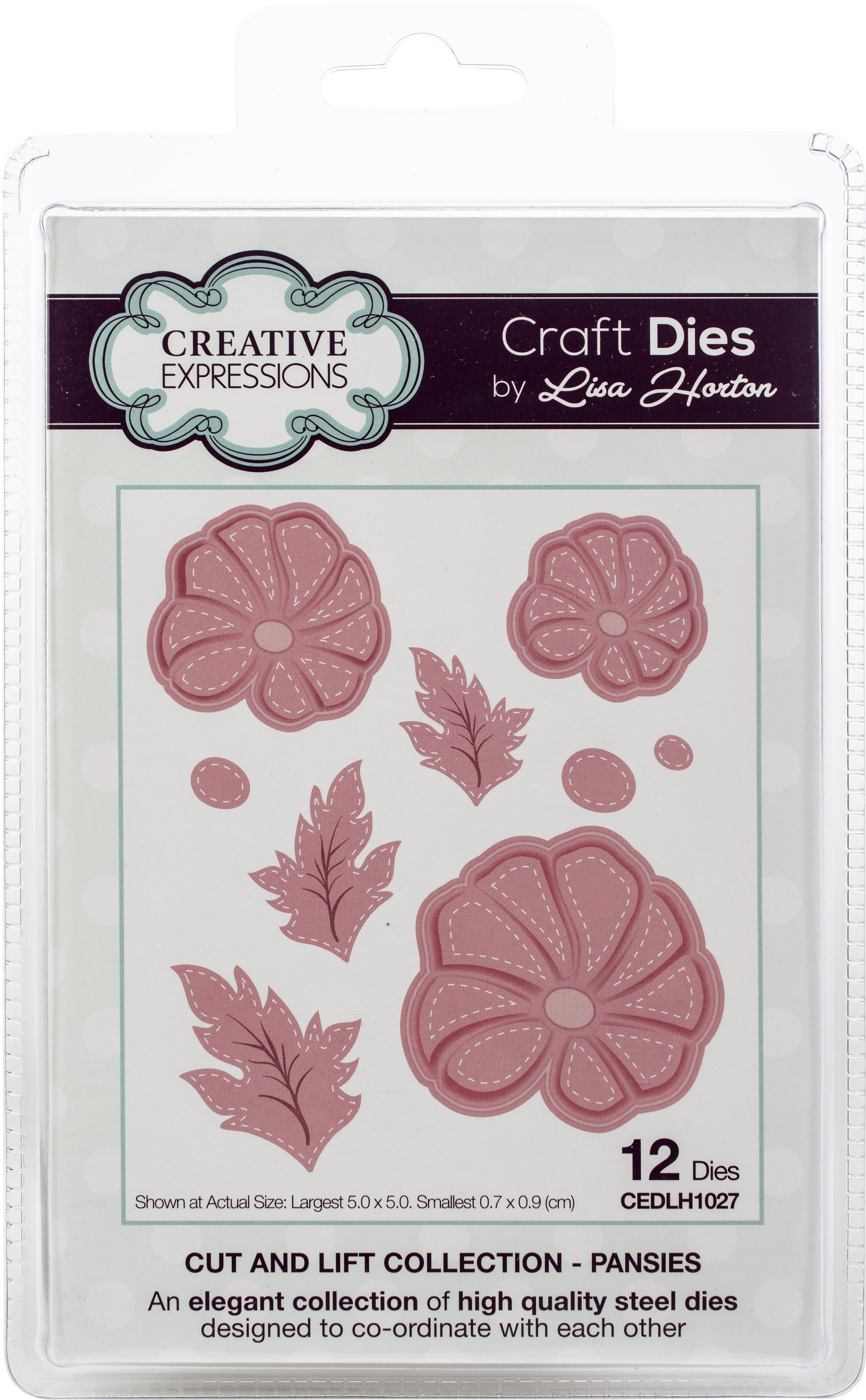Creative Expressions Cut & Lift Die Collection-Pansies