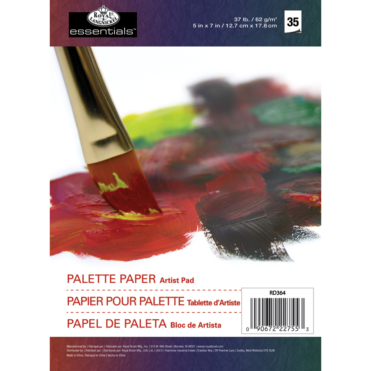 essentials(TM) Palette Artist Paper Pad 5X7-35 Sheets
