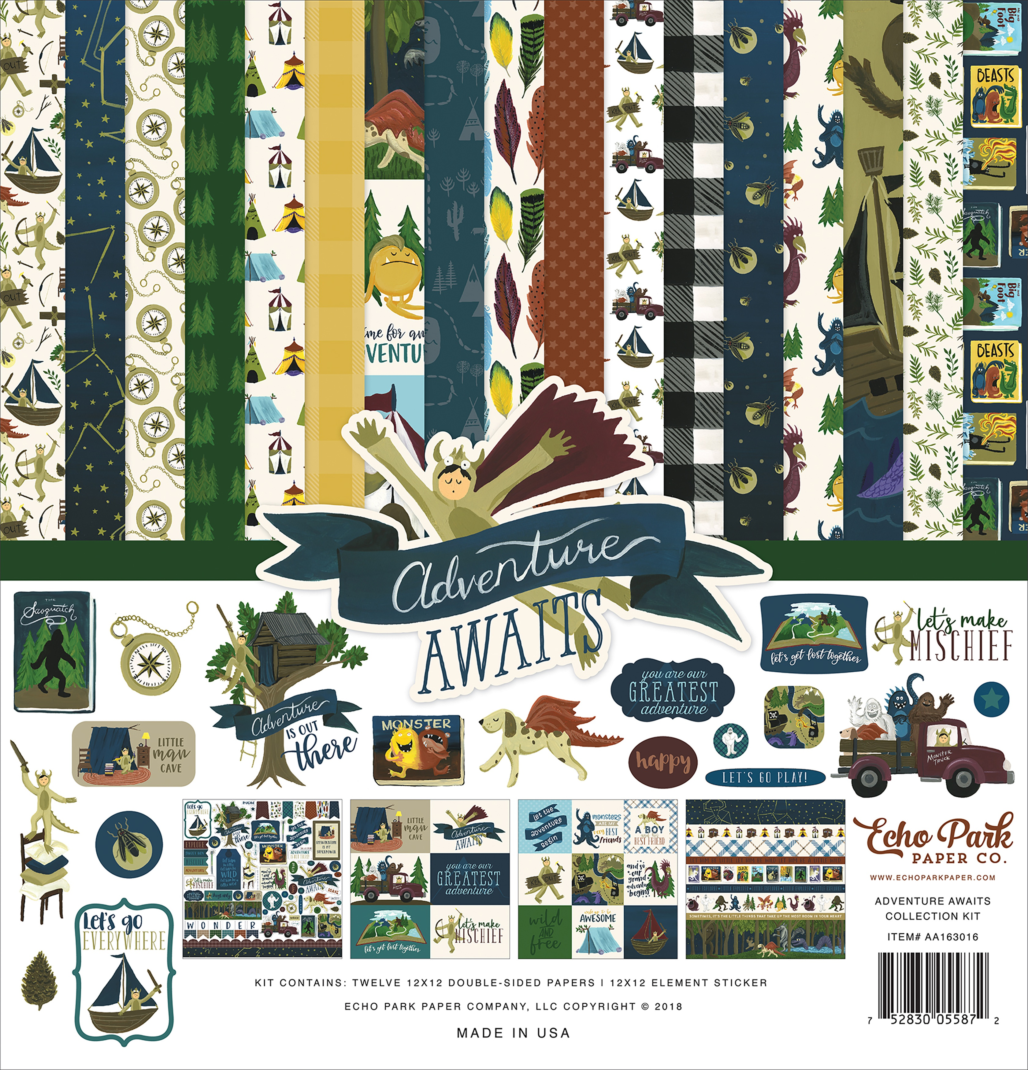 Adventure Awaits - Echo Park Collection Kit 12X12