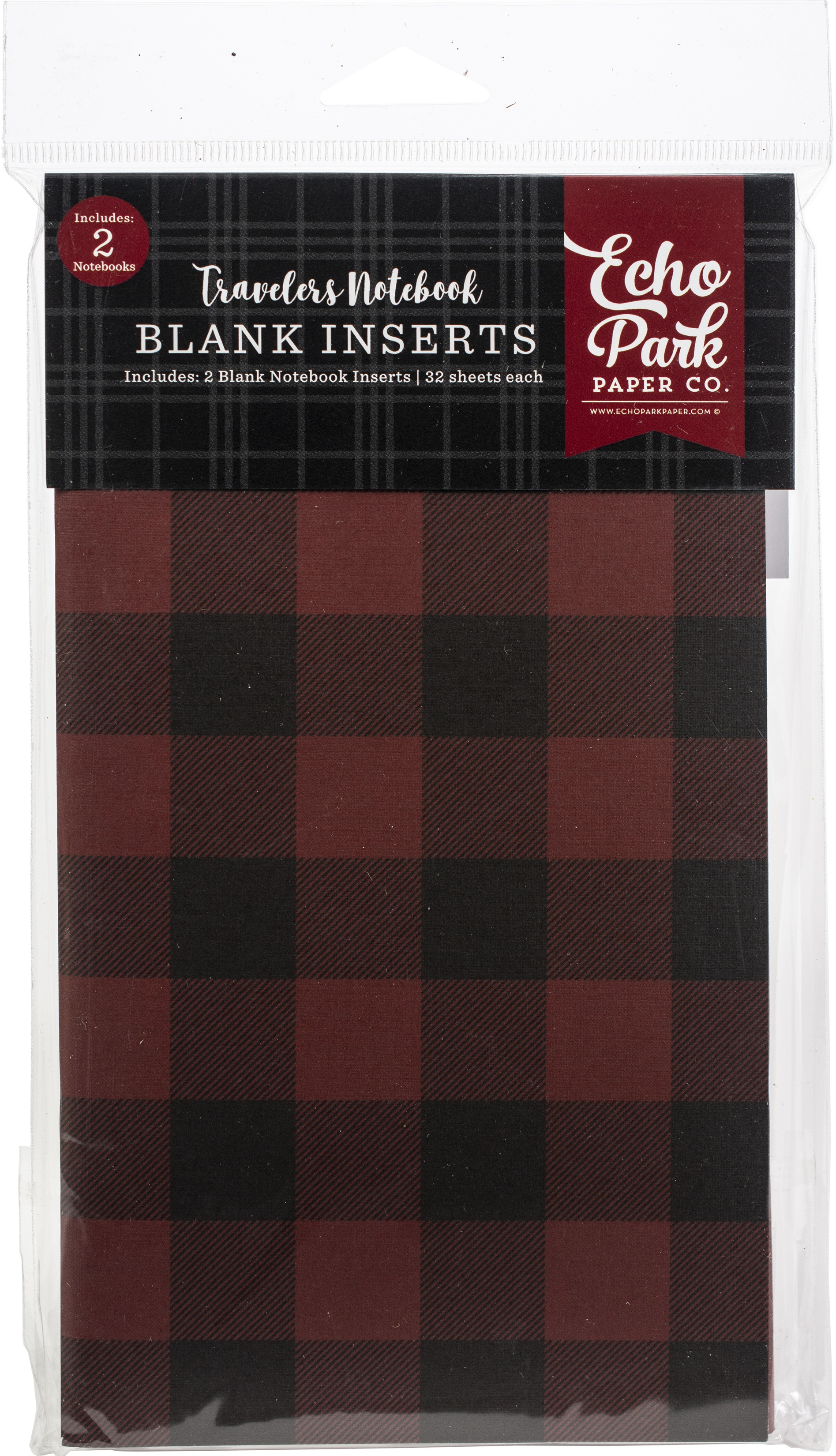 Echo Park - Travelers Notebook Red Buffalo Blank Inserts, 2/Pack