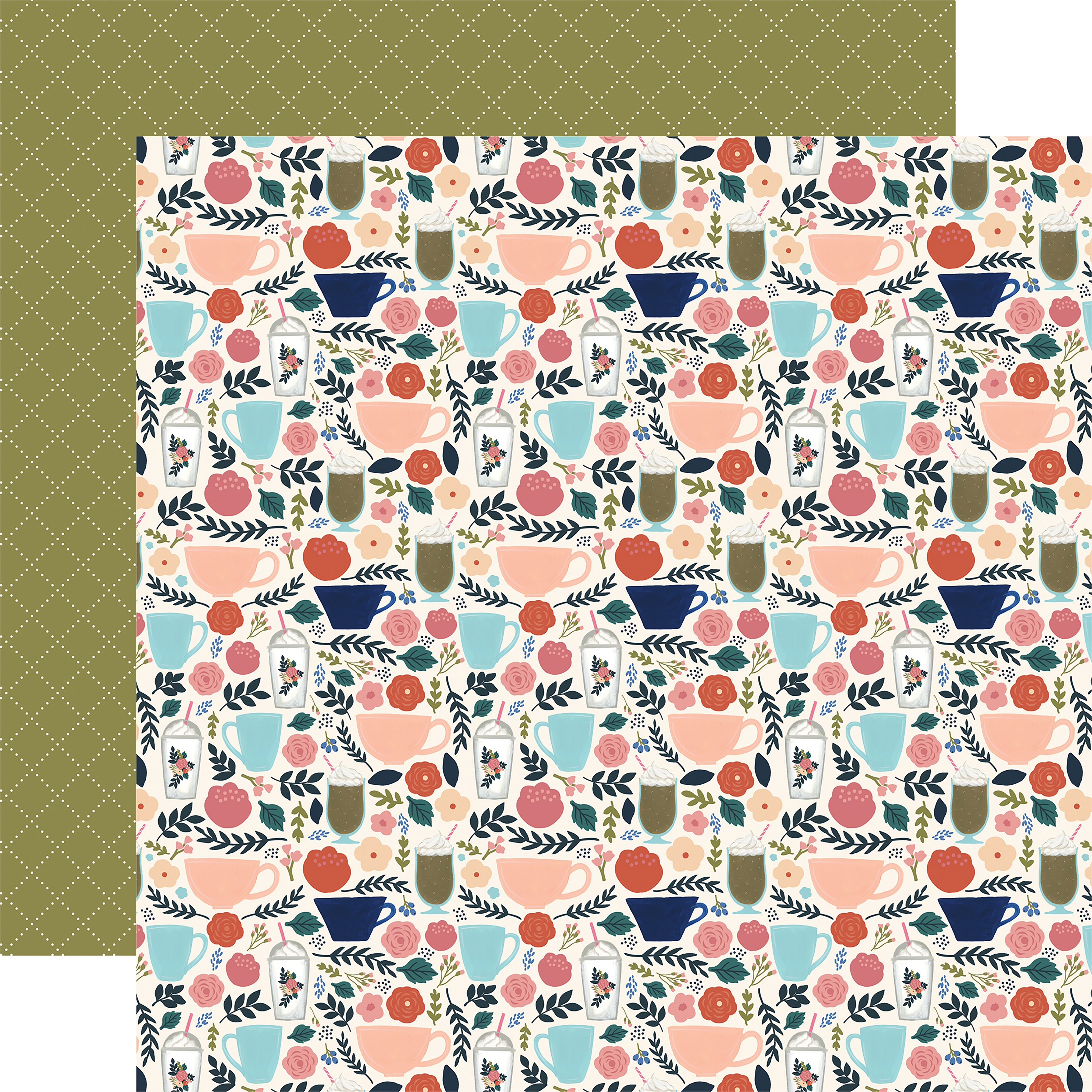 Coffee Double-Sided Cardstock 12X12-Coffee Cups