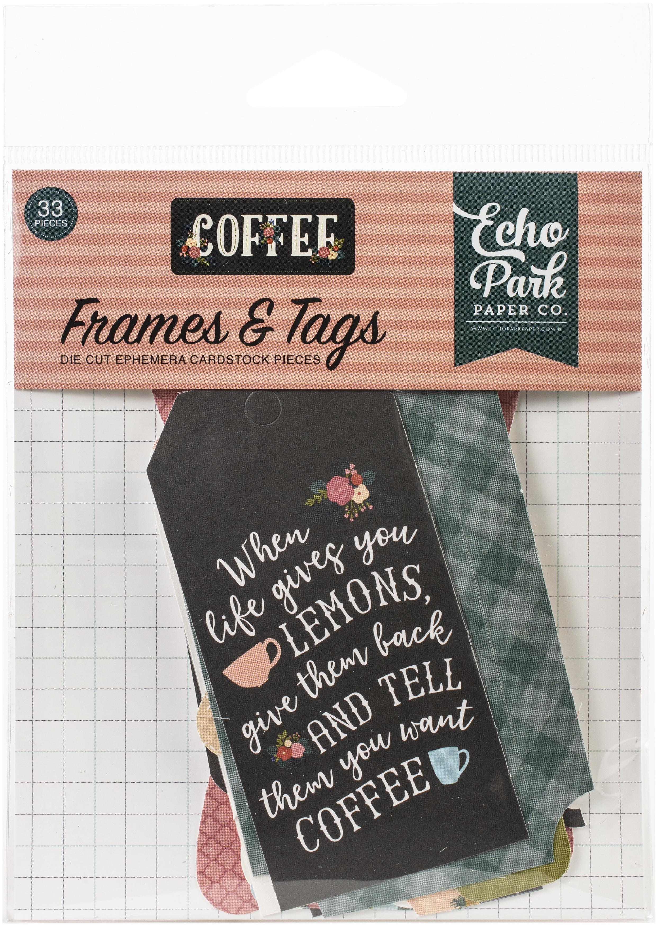 Echo Park Frames & Tags Coffee