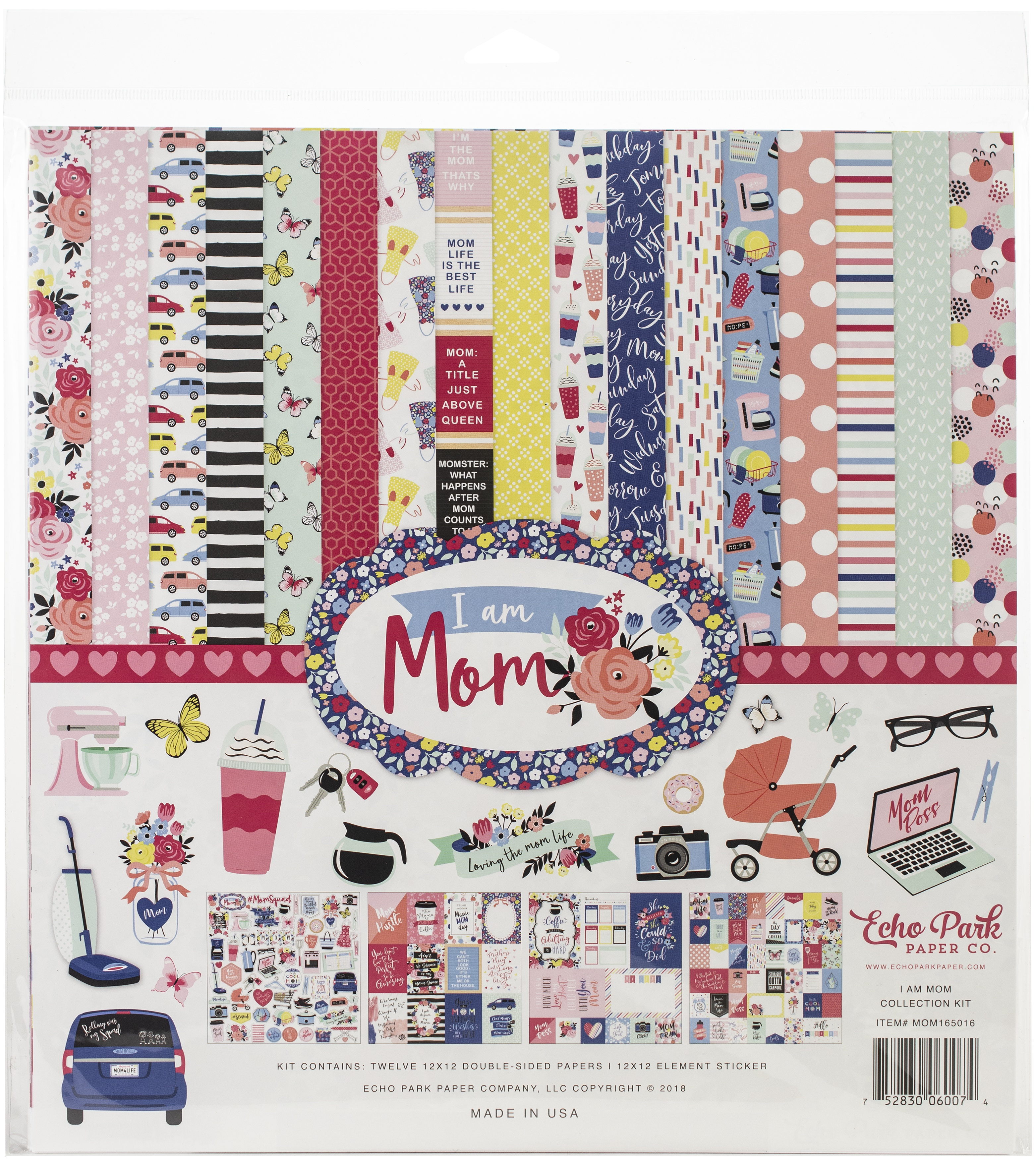 Echo Park Collection Kit 12X12-I Am Mom