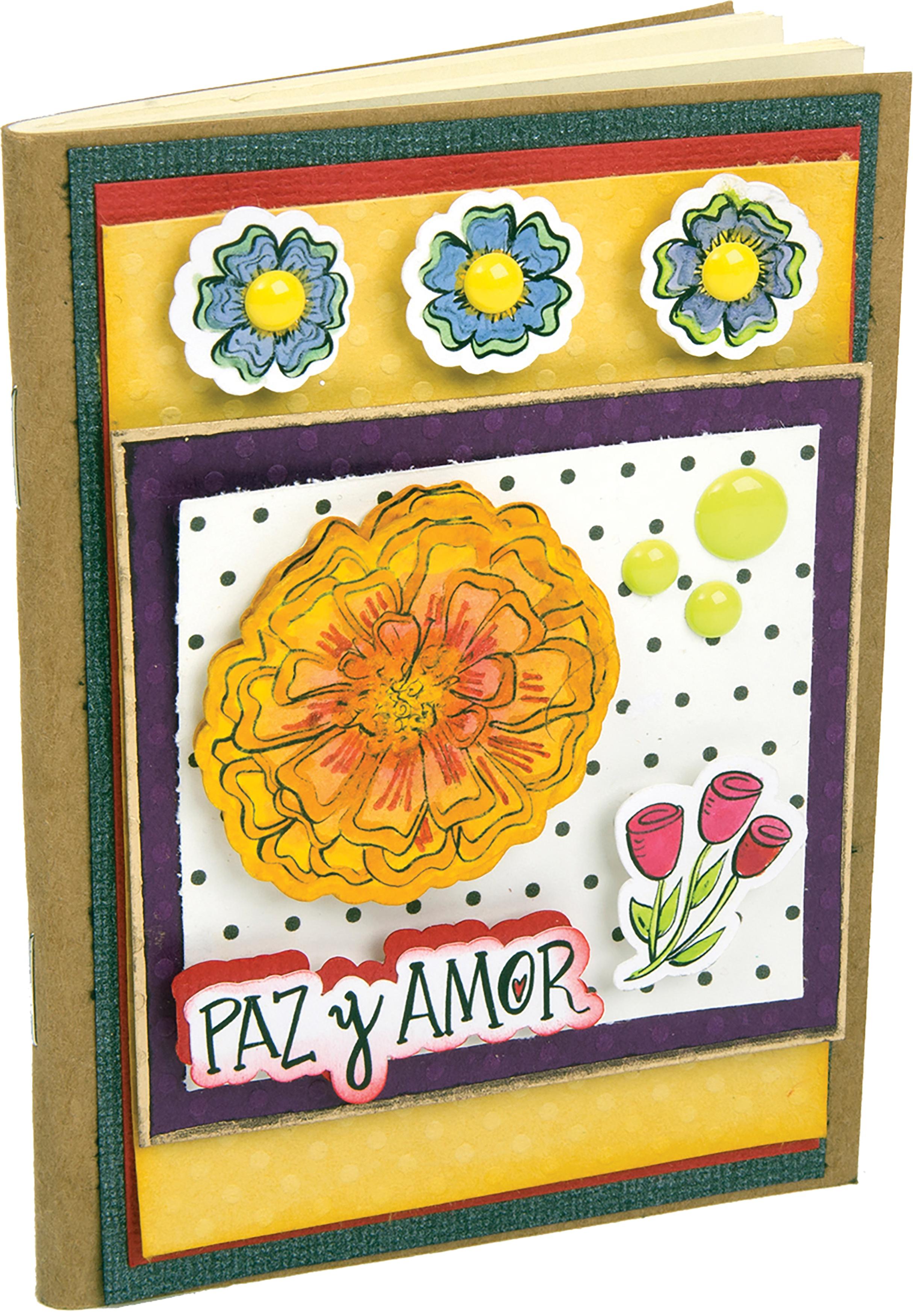 Sizzix Framelits Die & Stamp Set By Crafty Chica 5/Pkg-Paz & Amor