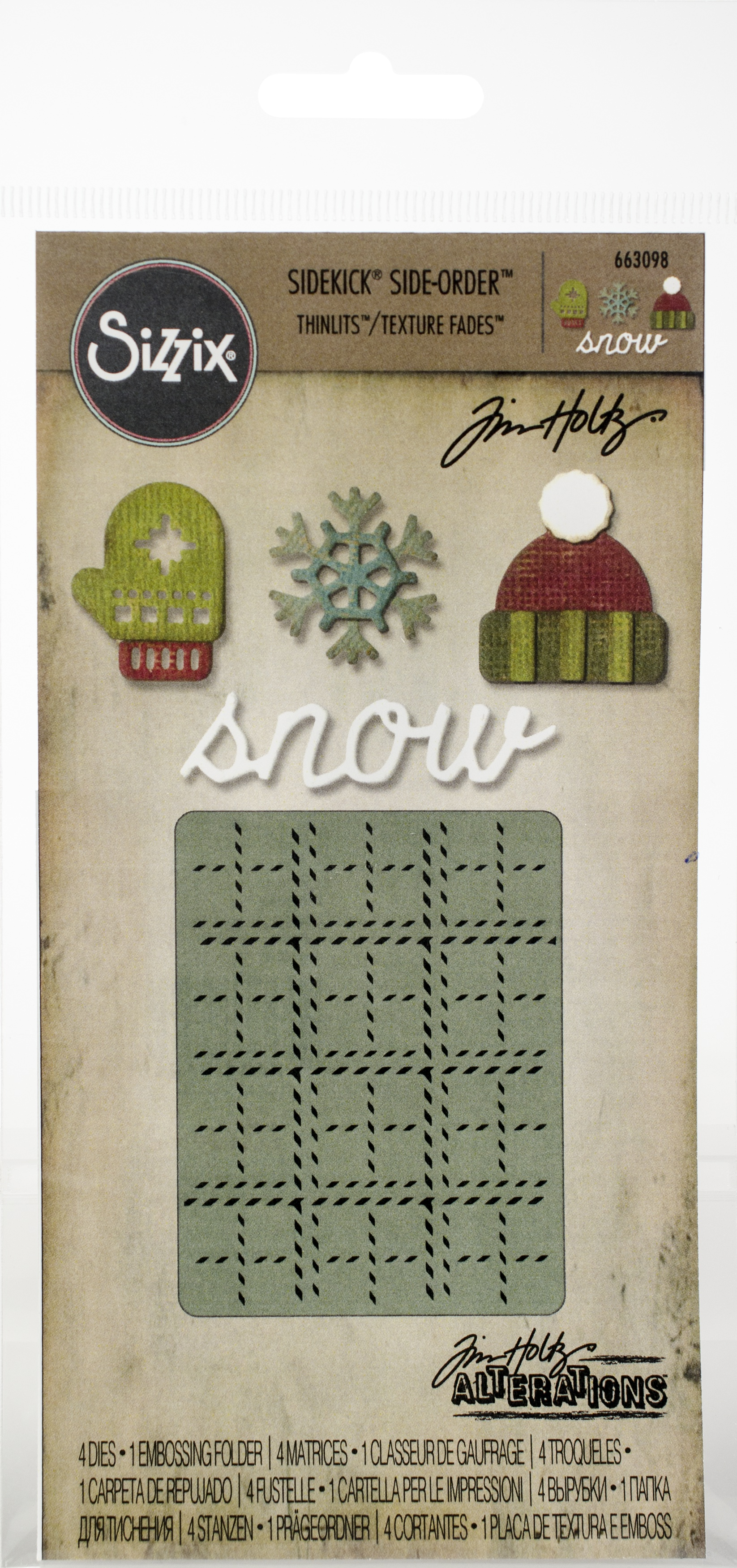Sizzix sidekick snow