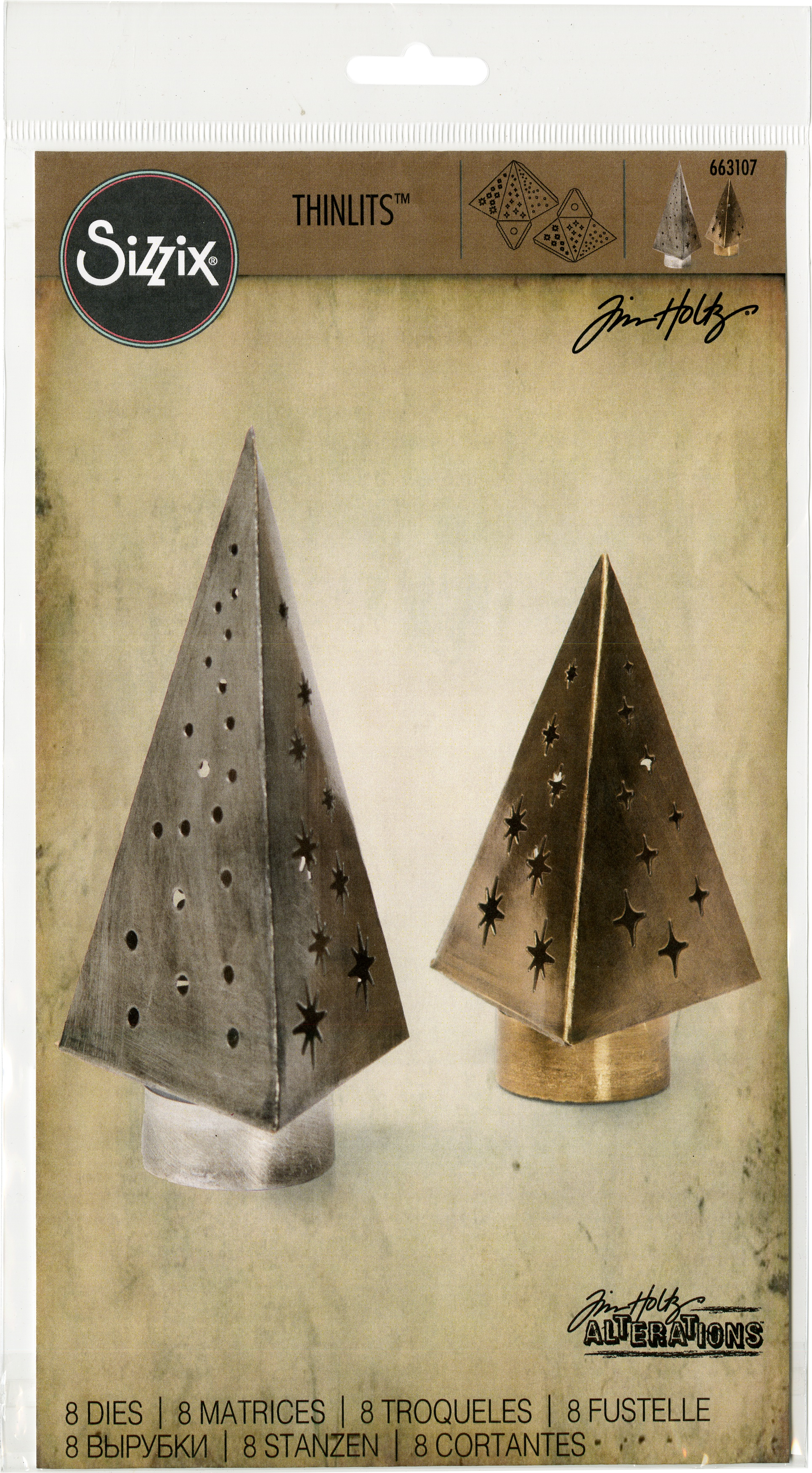 Sizzix Thinlits Dies By Tim Holtz 8/Pkg-Tree Light