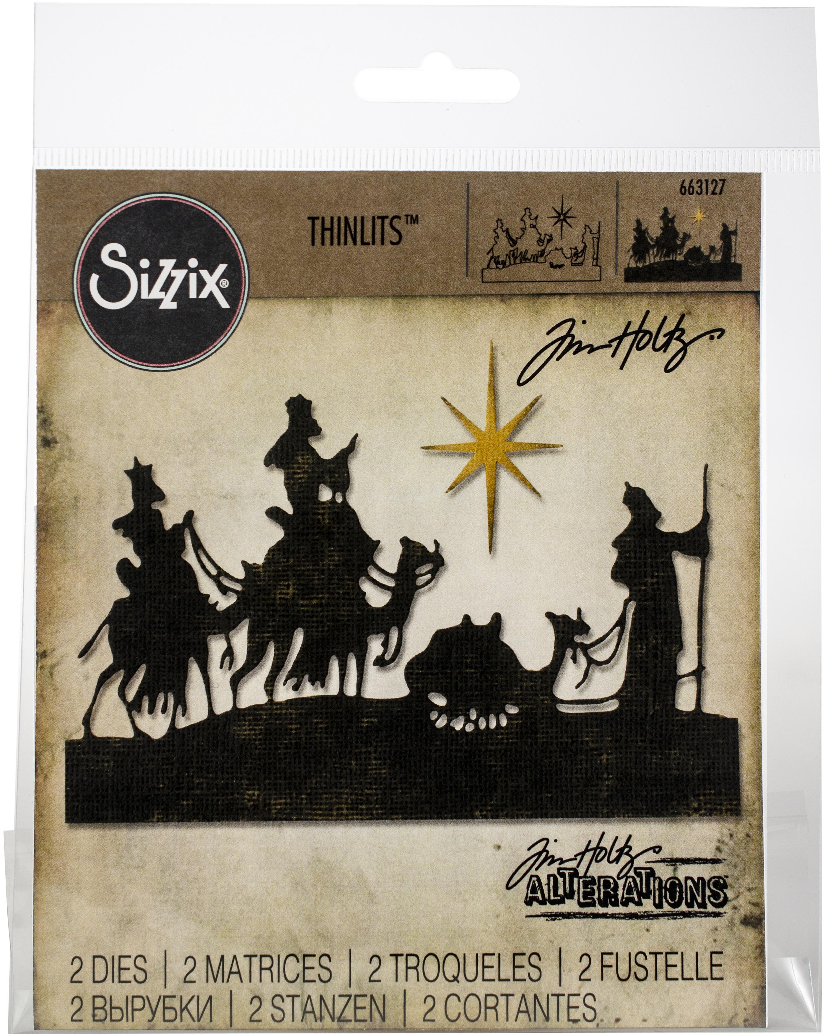 Sizzix Thinlits Dies By Tim Holtz 2/Pkg-Wise Men