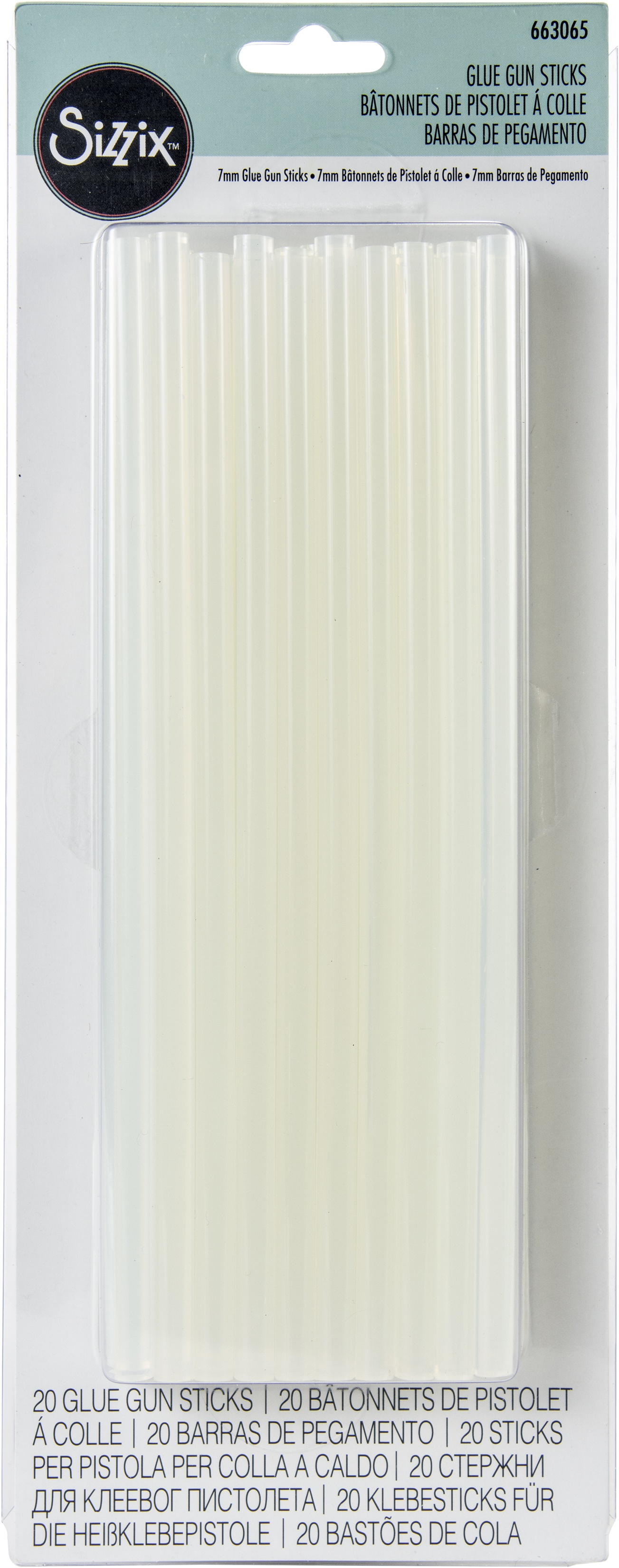 Sizzix Glue Gun Sticks 8 20/Pkg-Clear