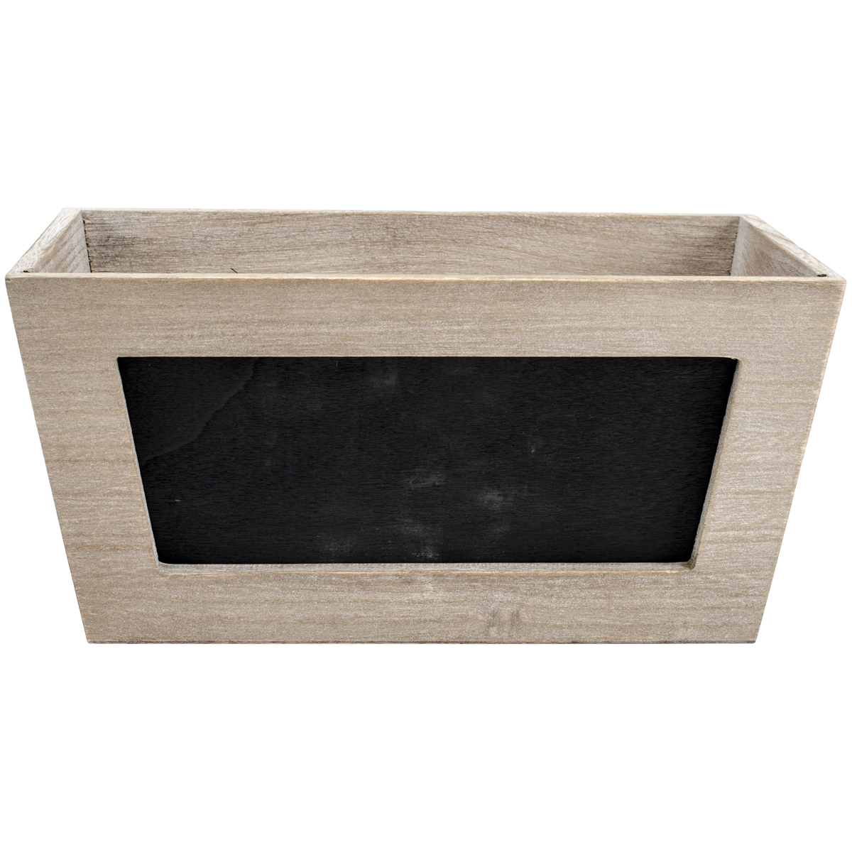 The Media Wooden Chalkboard Planter Weathered