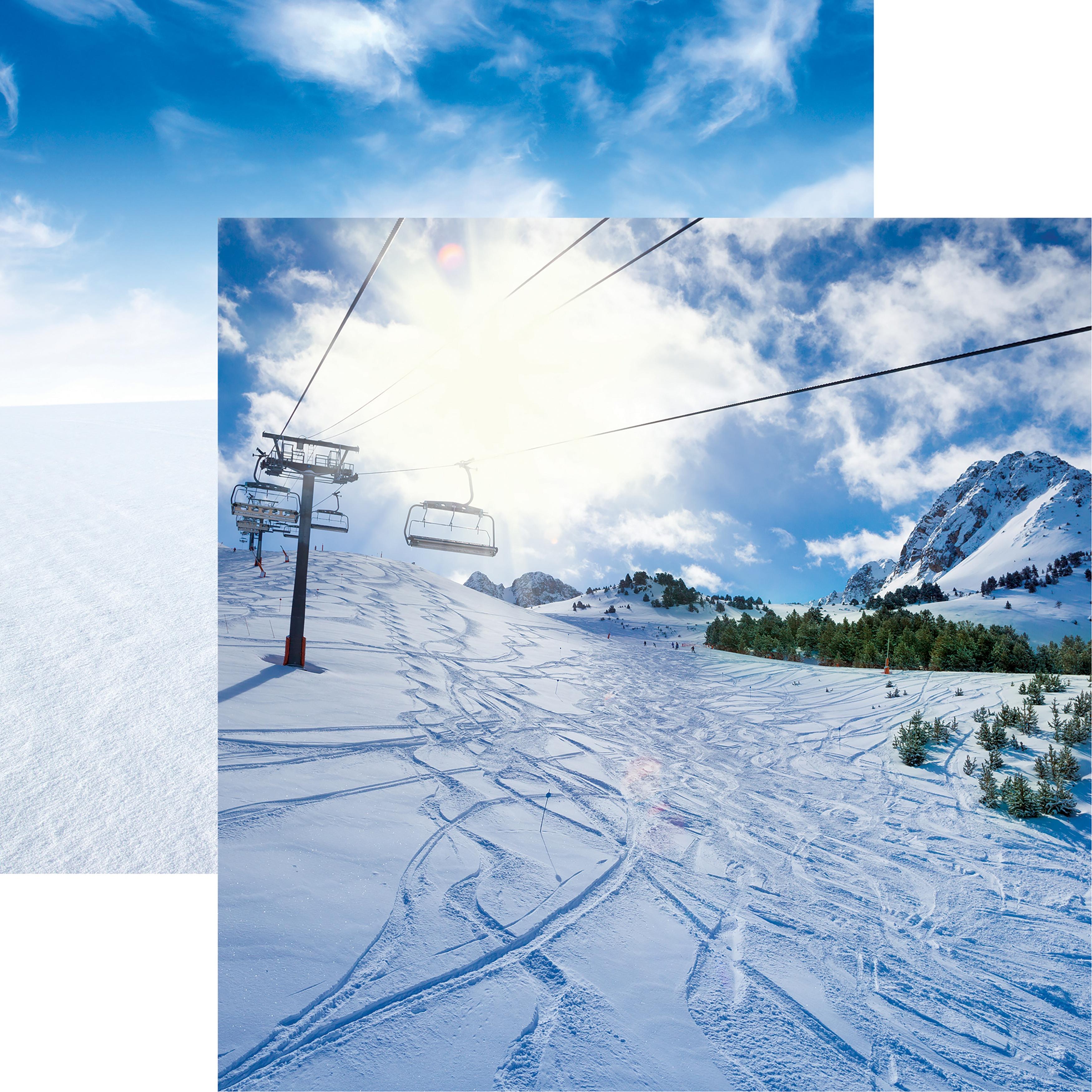 Snow Day Ski Lift Paper