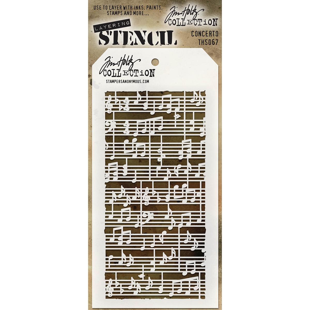 Tim Holtz Layered Stencil 4.125X8.5-Concerto