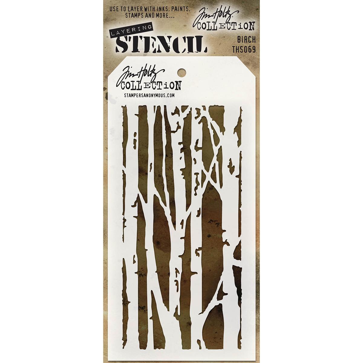 Tim Holtz Layered Stencil 4.125X8.5-Birch