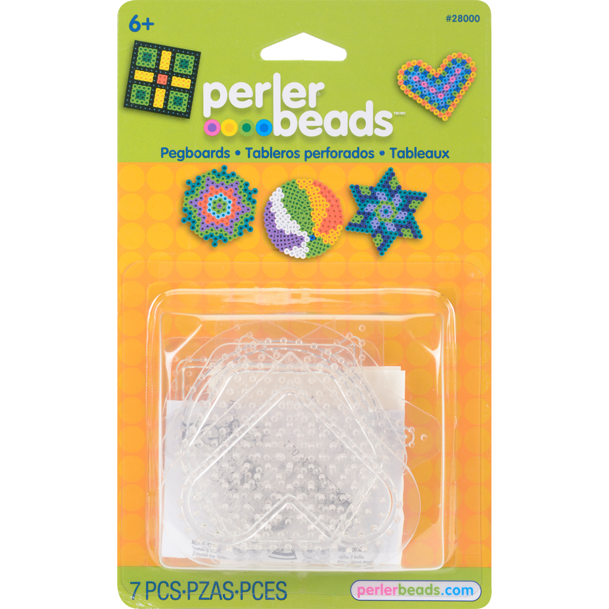 Perler Pegboards 5/Pkg-Assorted Clear Shapes