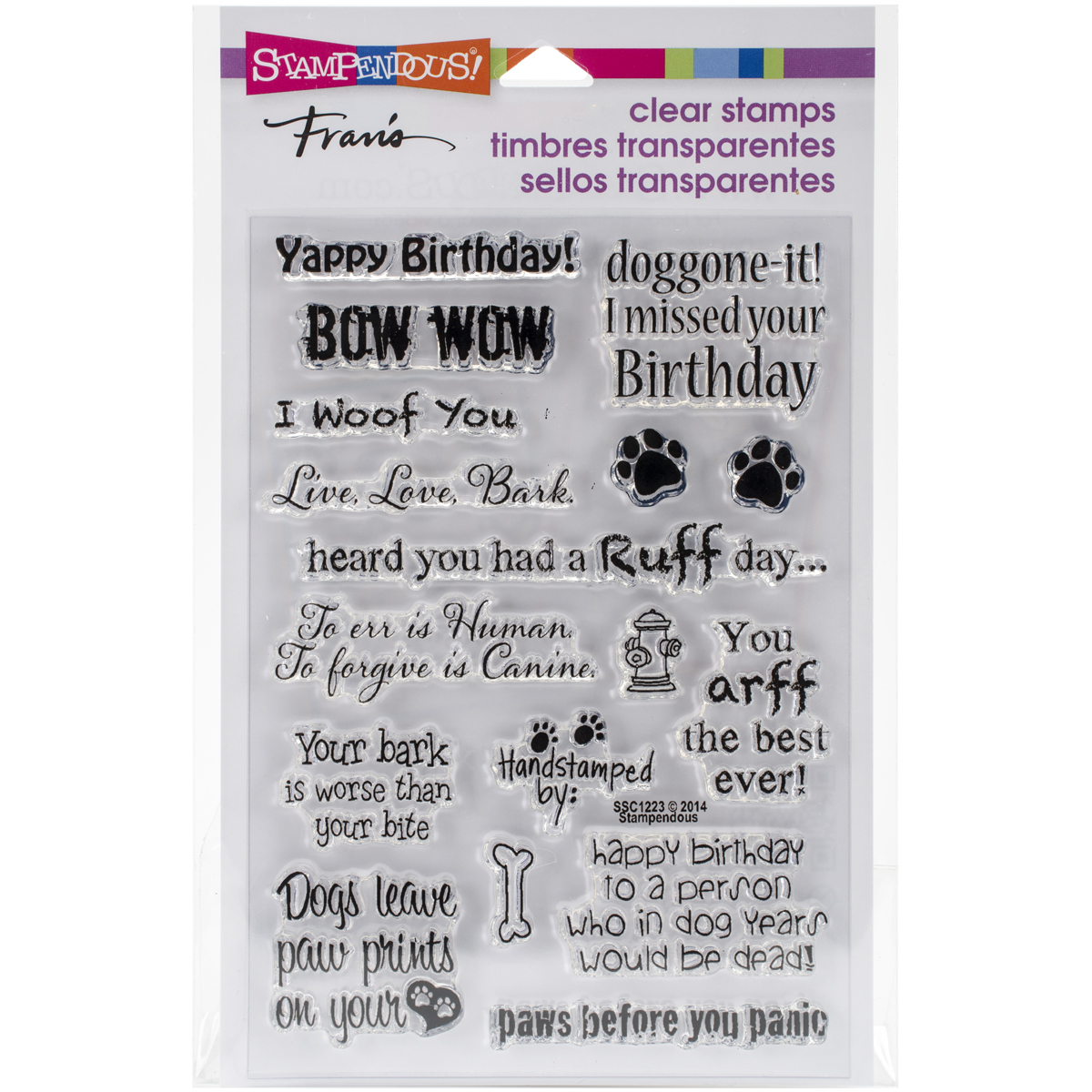 Stampendous Perfectly Clear Stamps -Dog Sayings